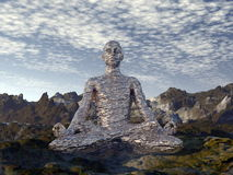 Meditation - 3D render Royalty Free Stock Image
