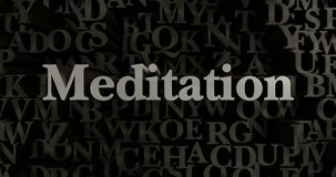 Meditation - 3D rendered metallic typeset headline illustration Royalty Free Stock Images