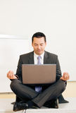 Meditation upon desk Royalty Free Stock Photo