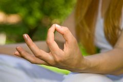 Meditation detail Stock Photography