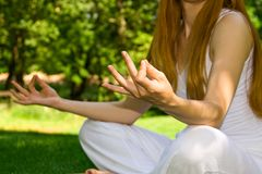Meditation detail Royalty Free Stock Images