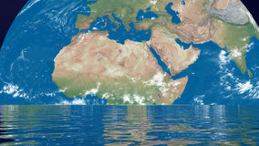 Meditation for earth - 3D render stock footage