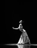 Meditation-Errand into the maze-Modern dance-choreographer Martha Graham. In December 19, 2014, Shi Feifei the dancer dance work session held in the South hall Stock Image