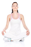 Meditation after exercise Royalty Free Stock Photography