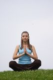 Meditation exercise outdoor Royalty Free Stock Photo