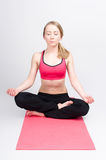 Meditation with eyes closed Stock Photography