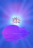 Meditation face and lotus royalty free illustration