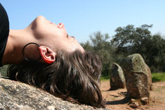 Meditation or faith Royalty Free Stock Images