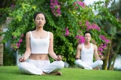 Meditation in the garden Stock Photo