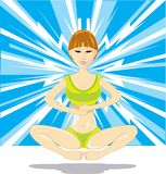 Meditation Girl Stock Photography