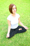 Meditation On Grass Stock Photography