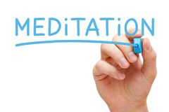Meditation Handwritten With Blue Marker Royalty Free Stock Images