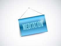 Meditation hanging banner illustration Royalty Free Stock Images