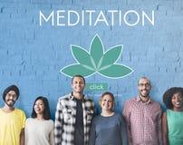 Meditation Healthcare Lotus Flower Graphic Concept. Meditation Healthcare Lotus Flower Graphic stock photos