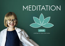 Meditation Healthcare Lotus Flower Graphic Concept Royalty Free Stock Photo