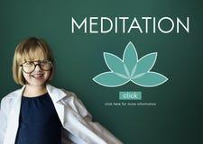 Meditation Healthcare Lotus Flower Graphic Concept. Meditation Healthcare Lotus Flower Graphic royalty free stock photo