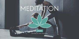 Meditation Healthcare Lotus Flower Graphic Concept Stock Image