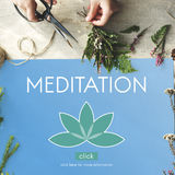 Meditation Healthcare Lotus Flower Graphic Concept. Meditation Healthcare Lotus Flower Craft Graphic stock images