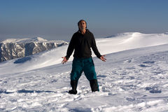 Meditation at high altitude Royalty Free Stock Photography