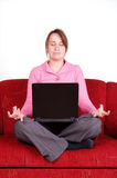Meditation at home Stock Photos