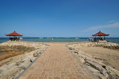 Meditation hut at sanur beach in bali Stock Image