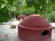 Meditation huts Royalty Free Stock Photo