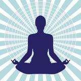 Meditation in i cirkel Royaltyfria Bilder