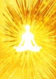 Meditation illustration Royalty Free Stock Image
