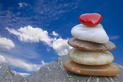 Meditation im Himmel Stockfotografie