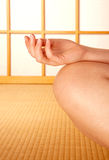 Meditation in a Japanese room Stock Images