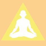 Meditation in a light triangle Stock Photo