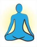Meditation logo Royalty Free Stock Images