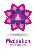 Meditation logo design. Design for yoga or spa center Royalty Free Stock Photography