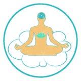 Meditation logo. Stock Images