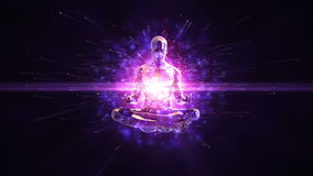 Meditation loopable background stock video footage
