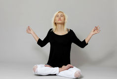 Meditation in lotus Royalty Free Stock Photos
