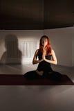 Meditation in lotus pose Royalty Free Stock Image