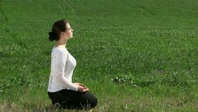 Meditation In The Lotus Position stock footage