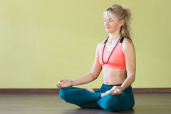 Meditation in Lotus posture Stock Photo