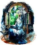 Meditation Man royalty free illustration
