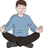 Meditation man Stock Photo