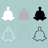 Meditation man or person icon. Stock Image