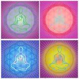 Meditation Mandala. Colorful Meditation Mandala Vector Set Vector Illustration