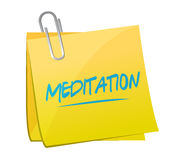 Meditation message memo post Royalty Free Stock Photo