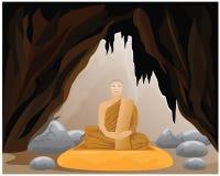 Meditation of monk Stock Image