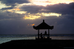 Meditation morning in bali Stock Image