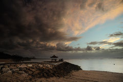 Meditation morning in bali 2. Sunrise at beach from bali and meditation Royalty Free Stock Photos