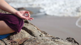 Meditation mudra stock video footage