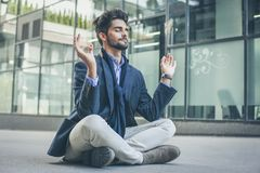Meditation is my way of relaxing. stock photo