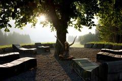 meditation nature Στοκ Φωτογραφία